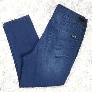 Seven7 All in One High Rise Skinny Crop Jeans